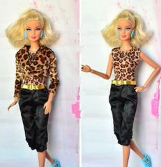 Barbie Casual Wear-Pants-Shirt-Jacket-Belt-Barbie Shoes