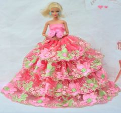 Sweet Barbie Gown-Roses-Shoes