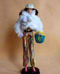 Modest Barbie-Coat-Hat-Mittens-Shirt-Belt-Purse-Pants-Shoes