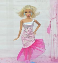 Fun Barbie Dress-Modest Barbie Clothes-Barbie Shoes-Earrings