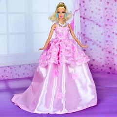 Pink Sweet Barbie Gown-Shoes