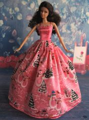 Christmas Barbie Gown-Holiday Theme-Shoes