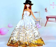 Barbie Ballgown-Hat-Barbie Shoes