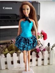 Fun Satin Barbie Dress-Barbie Shoes