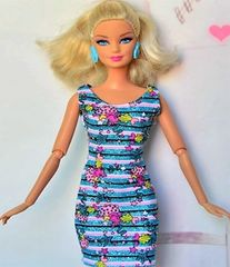 Sparkly Barbie Dress-Modest Barbie Clothes-Shoes