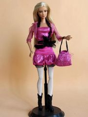 Barbie Casual Wear-Skirt-Belt-Shirt-Jacket-Tights-Purse-Boots