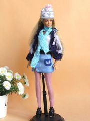 Barbie Casual Wear-Skirt-Belt-Shirt-Jacket-Tights-Scarf-Hat-Shoes