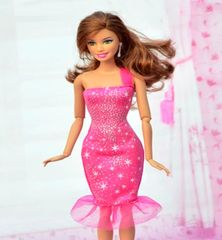 Sparkly Pink Barbie Dress-Barbie Shoes