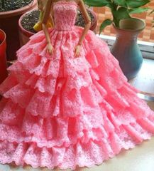 Pink Barbie Gown-Barbie Shoes