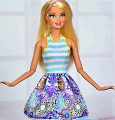Barbie Dress-Modest Barbie Clothes-White Barbie Shoes