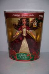 NEW! 1997 DISNEY HOLIDAY PRINCESS BELLE THE ENCHANTED CHRISTMAS