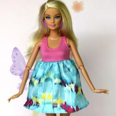 Barbie Doll Dress-Pink Barbie Shoes