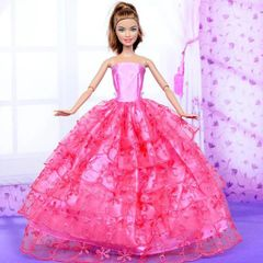 Pink Barbie Ballgown-Shoes