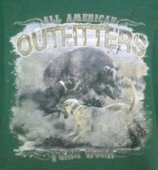 "Dark Green T-Shirt-Hog Hunting ""Team Work"""