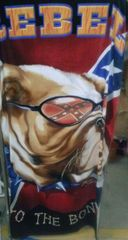 Rebel to the Bone Confederate Flag Beach Towel