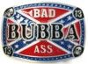 """Bubba Bad Ass rebel belt buckle. This buckle is 3 1/2"""" X 2 1/2""""."""