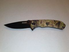 Camo Spring Assisted Knife
