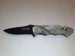 Camo Handle Tactical Rescue Asstd Opening Knife