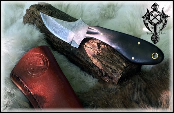 Micro Skinner In Damascus By Indy Hammered Knives Indy Hammered