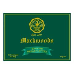 MACKWOODS ENGLISH BREAKFAST 25 ENVELOPED TEA BAGS