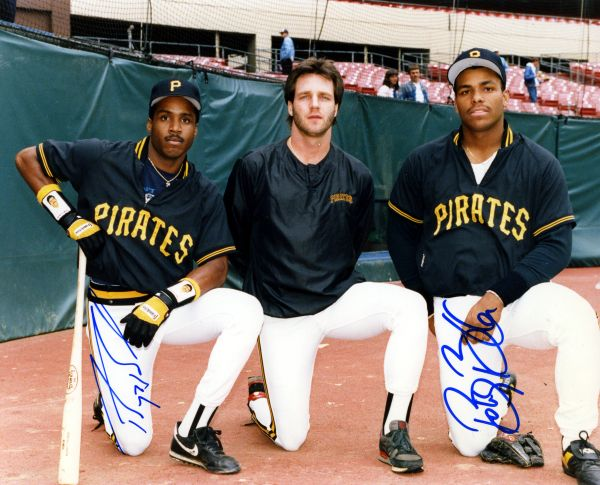 Barry Bonds, Bobby Bonilla - Pittsburgh Pirates signed 8x10 photo