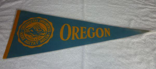 Vintage University of Oregon Ducks full-size pennant, 1960's - 70's