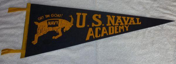 Vintage U.S. Naval Academy full-size pennant