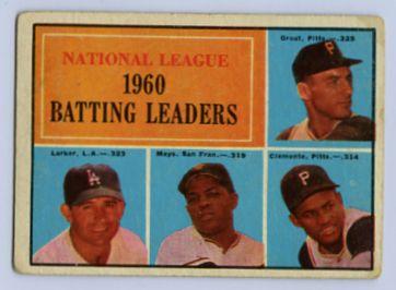 27. 1961 TOPPS BASEBALL CARD #41 - CLEMENTE
