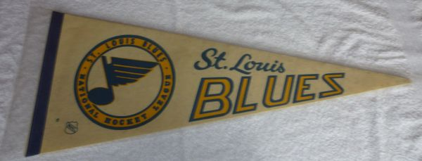 Circa 1970 St. Louis Blues full-size pennant