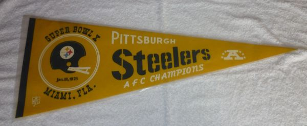 Pittsburgh Steelers Super Bowl X full-size pennant