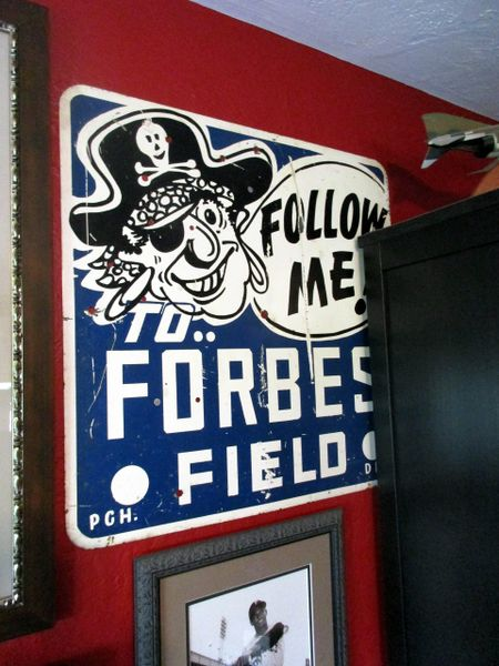 """ORIGINAL 2'x2' """"Follow Me to Forbes Field"""" sign"""