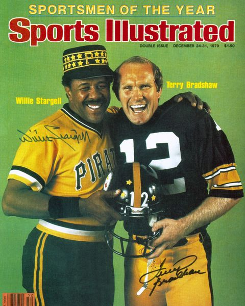10. Willie Stargell & Terry Bradshaw 11x14 photo