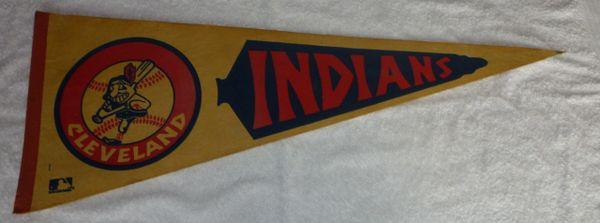 Vintage Cleveland Indians full-size pennant