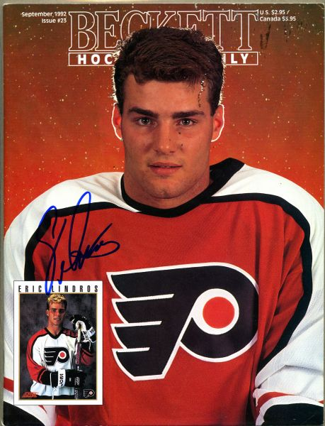 Eric Lindros, Phila. Flyers signed Beckett hockey price guide