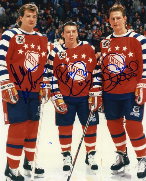 1991-92 Calgary Flames All-Star game signed 8x10 photo