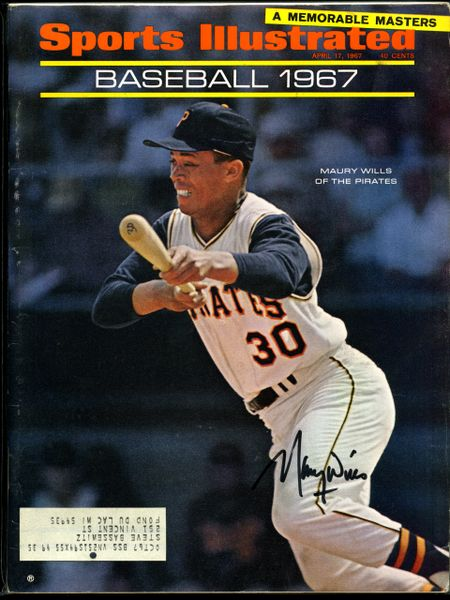 Maury Wills, Pittsburgh Pirates signed Sports Illustrated
