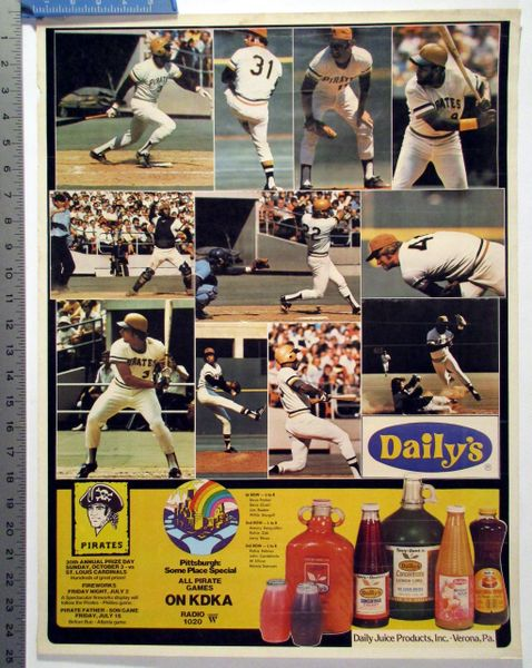1970's Pittsburgh Pirates - Daily's Juice Products poster