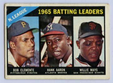 21. 1966 TOPPS BASEBALL CARD #215 - CLEMENTE