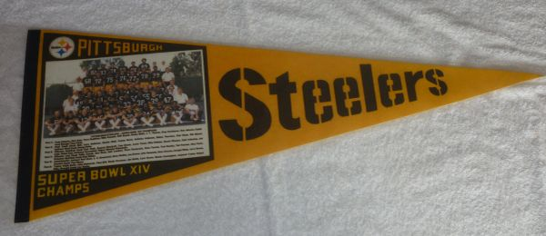 Pittsburgh Steelers Super Bowl XIV full-size pennant