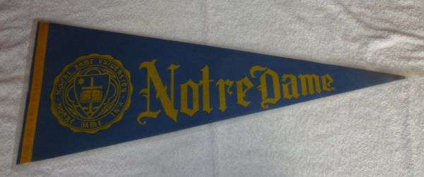 1960's - 70's Notre Dame full-size pennant