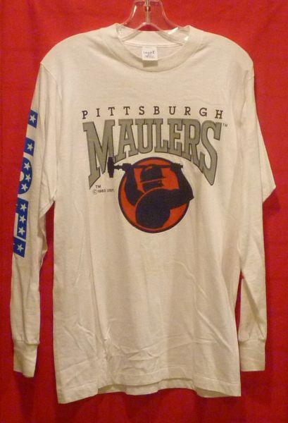 Pittsburgh Maulers long sleeve t-shirt USFL, size M