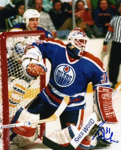 Grant Fuhr - Edmonton Oilers signed 8x10 photo