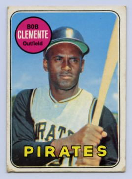 74. 1969 ROBERTO CLEMENTE TOPPS BASEBALL CARD #50