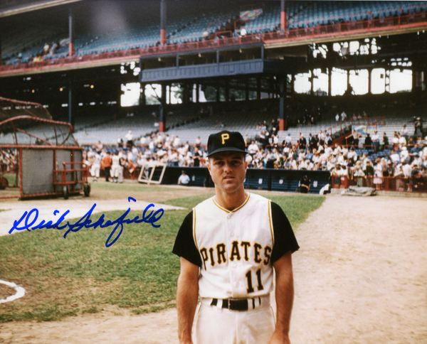 Dick Schofield - Pittsburgh Pirates signed 8x10 photo