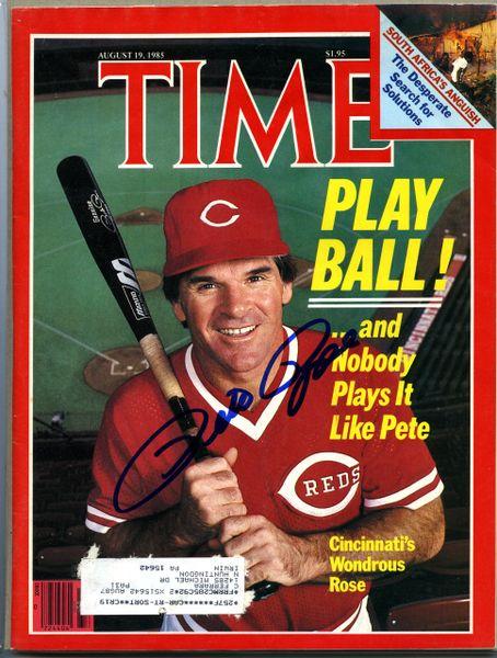 Pete Rose, Cincinnati Reds signed Time magazine