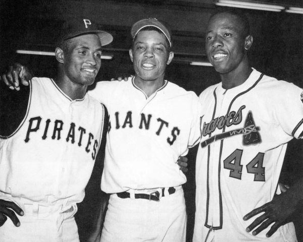 18. Clemente, Mays, Aaron size 11x14 photo