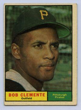 60. 1961 ROBERTO CLEMENTE TOPPS BASEBALL CARD #388