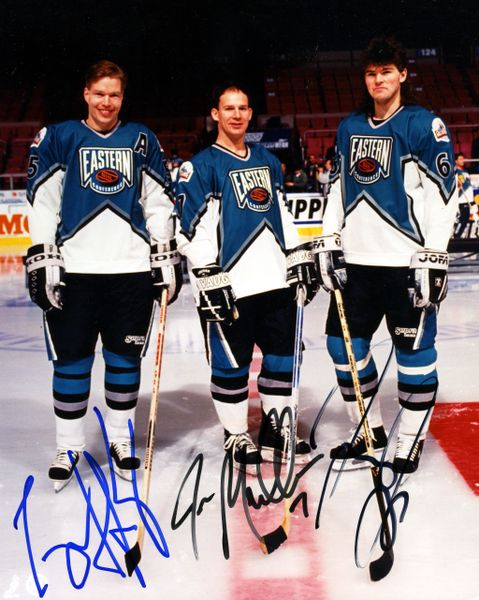 1994 Pittsburgh Penguins All-Star game signed 8x10 photo