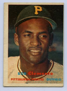 52. 1957 ROBERTO CLEMENTE TOPPS BASEBALL CARD #76