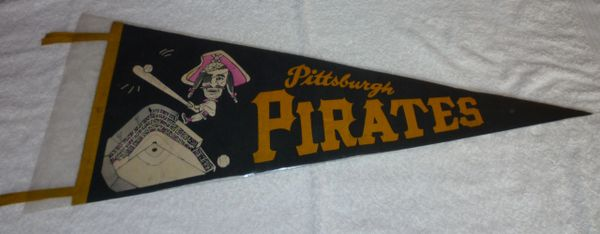 1950's - 60's Pittsburgh Pirates full-size pennant